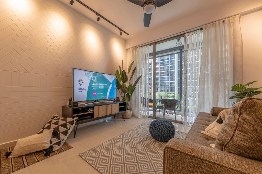 Contemporary, HDB, Living Room, Choa Chu Kang Grove, Interior Designer, Chapter One Interior Design