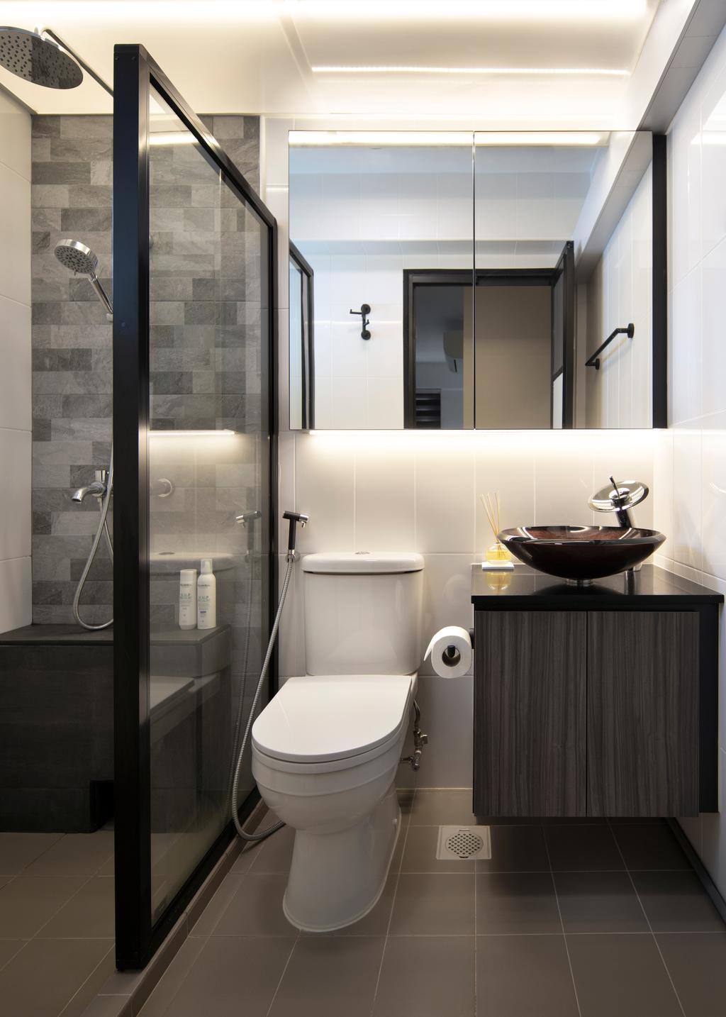 Contemporary, HDB, Bathroom, Telok Blangah Street 31, Interior Designer, Aestherior