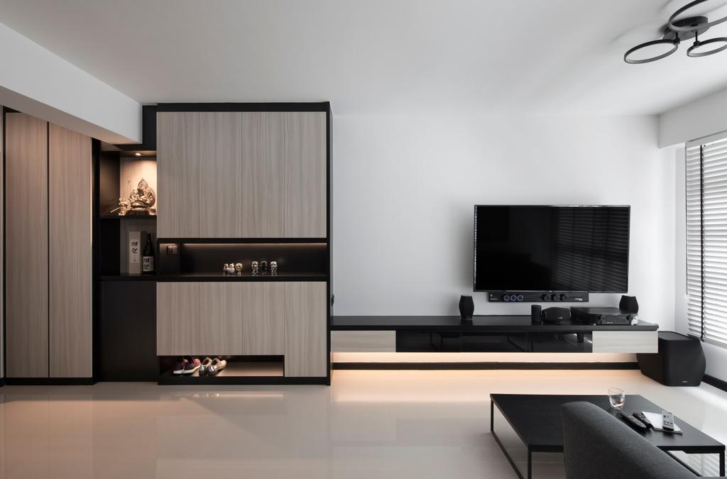 Contemporary, HDB, Living Room, Telok Blangah Street 31, Interior Designer, Aestherior