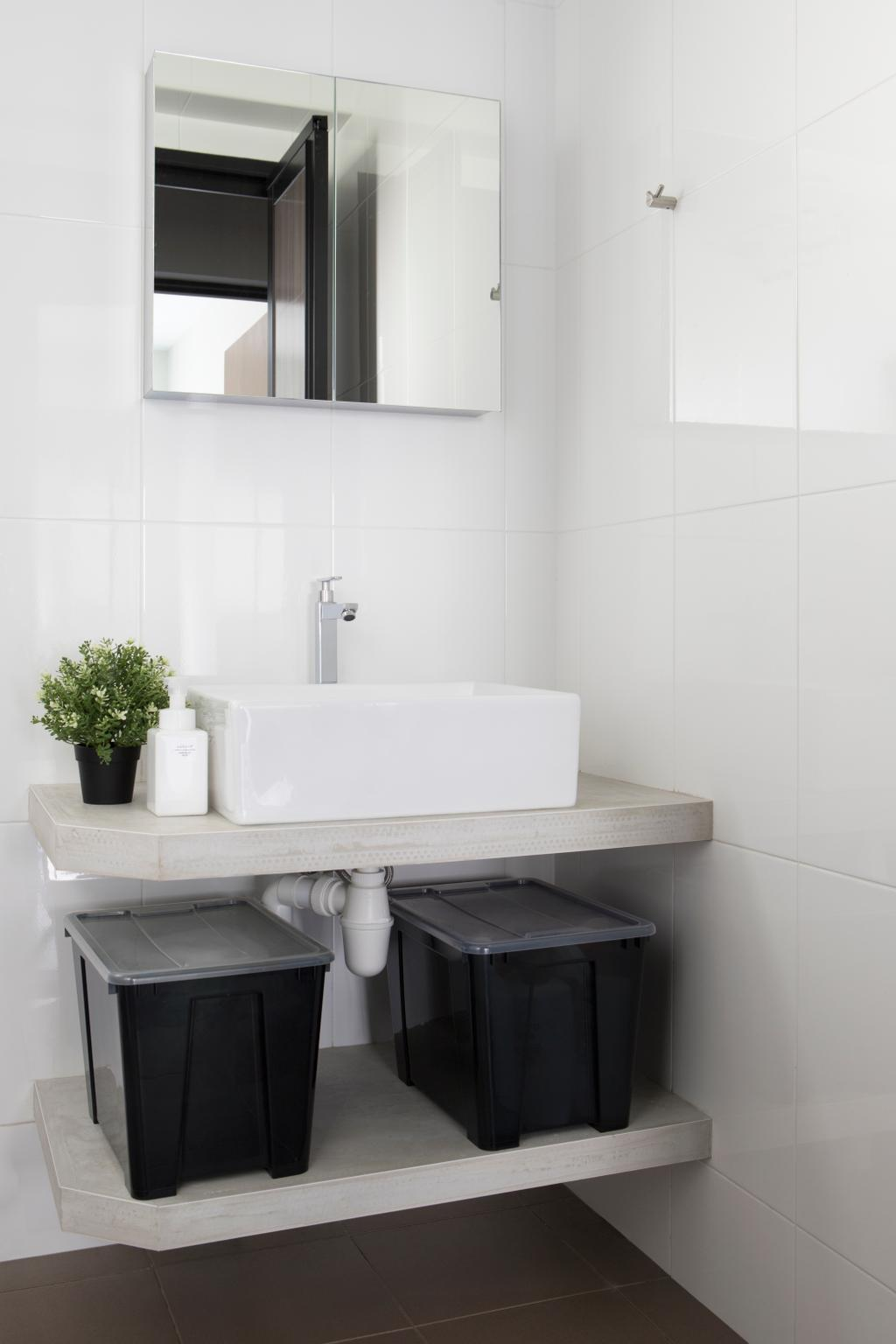 Contemporary, HDB, Bathroom, Buangkok Green, Interior Designer, Aestherior