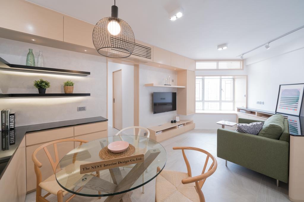 北歐, 私家樓, 客廳, 天水圍樂湖居, 室內設計師, The NEST, 簡約