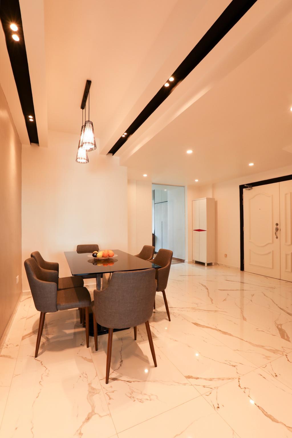 Contemporary, Condo, Dining Room, Kampong Eunos, Interior Designer, Apartment