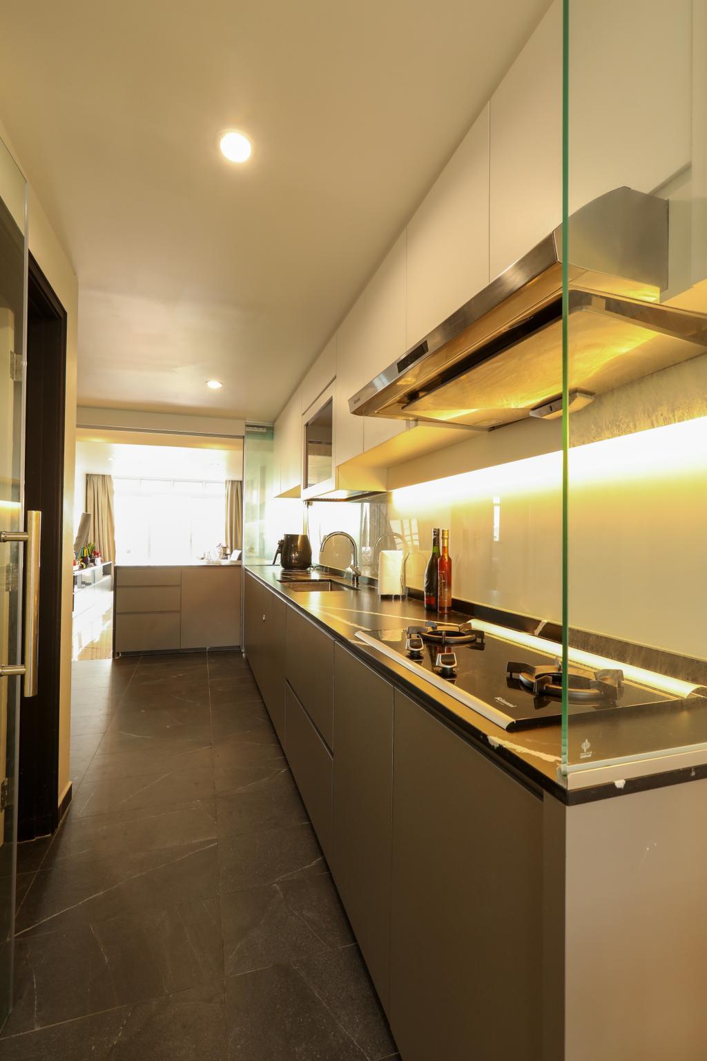 Contemporary, Condo, Kitchen, Kampong Eunos, Interior Designer, Apartment