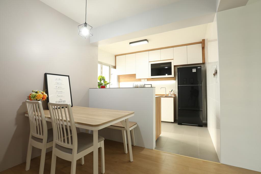 Scandinavian, HDB, Dining Room, Jurong West, Interior Designer, Apartment, Contemporary