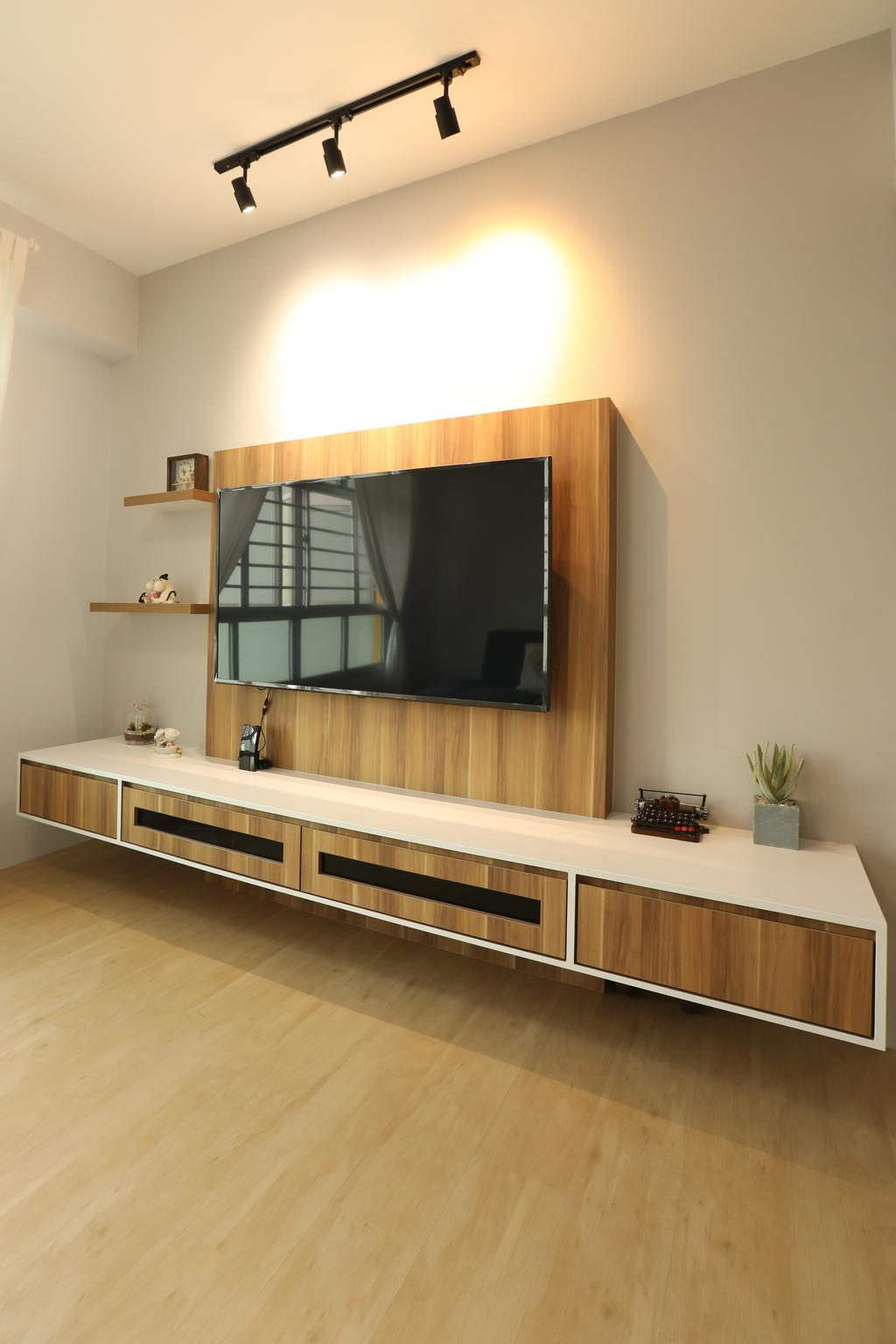 Scandinavian, HDB, Living Room, Jurong West, Interior Designer, Apartment, Contemporary