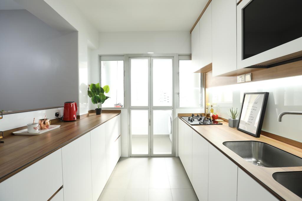 Scandinavian, HDB, Kitchen, Jurong West, Interior Designer, Apartment, Contemporary