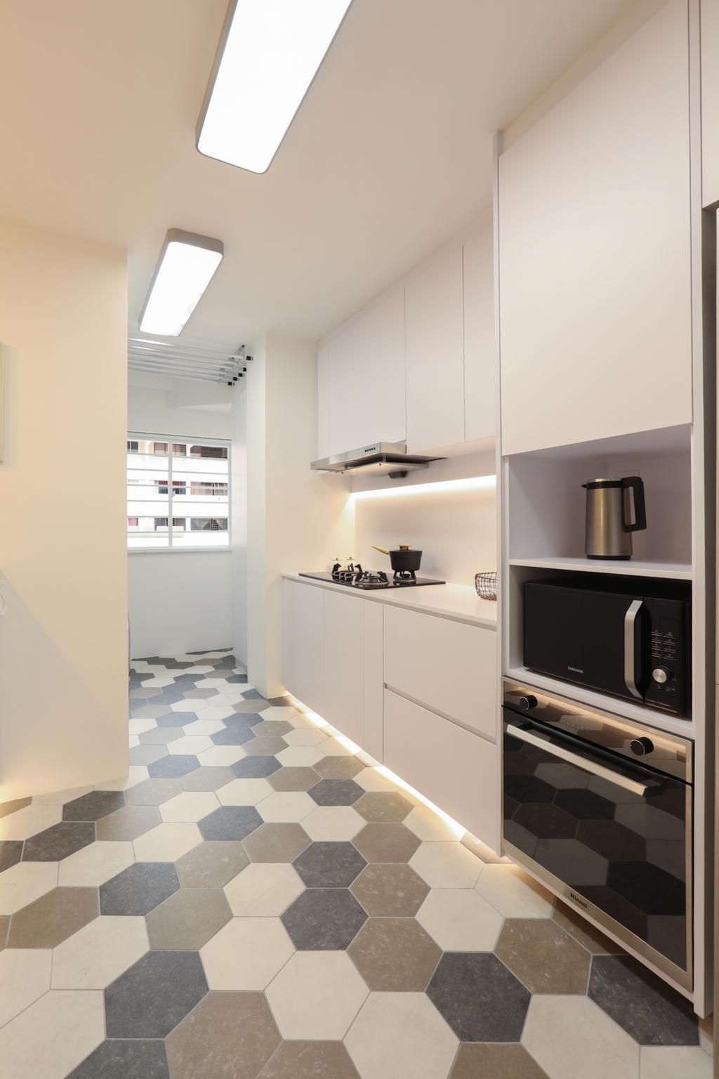 HDB, Kitchen, Jurong West, Interior Designer, Apartment