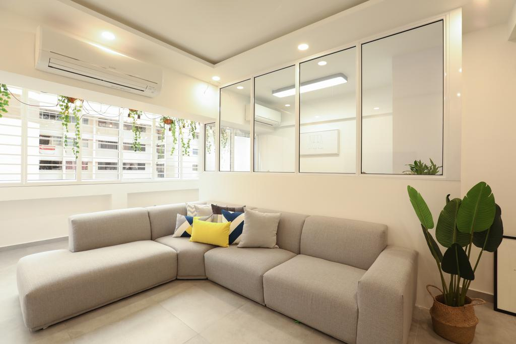 HDB, Living Room, Jurong West, Interior Designer, Apartment