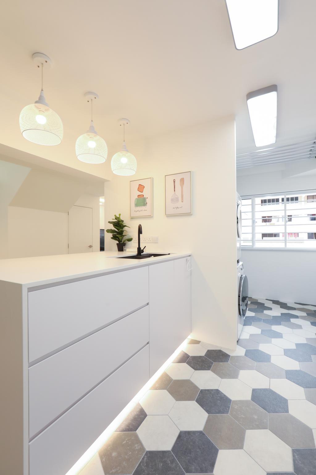 HDB, Bathroom, Jurong West, Interior Designer, Apartment