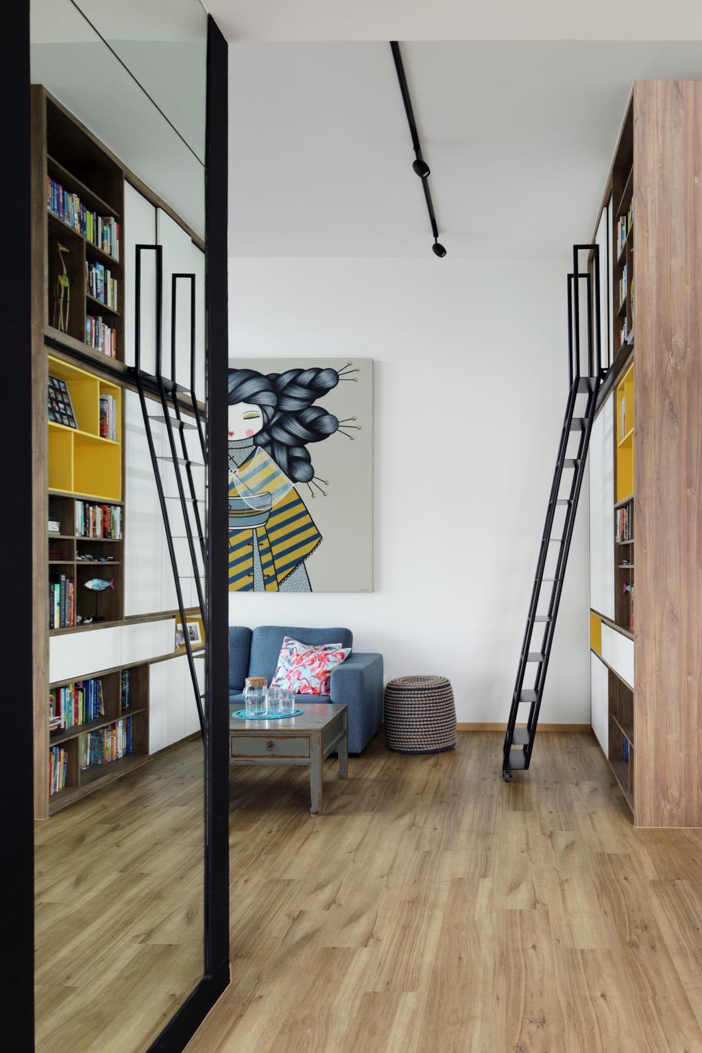 Contemporary, Condo, Living Room, Hillview Avenue, Interior Designer, Fuse Concept