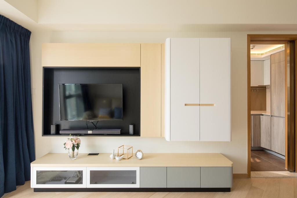 簡約, 私家樓, 客廳, 啟德一號, 室內設計師, Magis Design Studio, 北歐