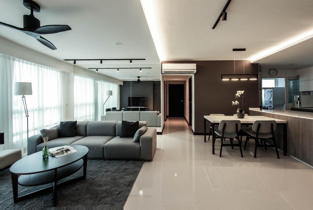 Contemporary, HDB, Living Room, Bukit Batok West Avenue 6, Interior Designer, Icon Interior Design