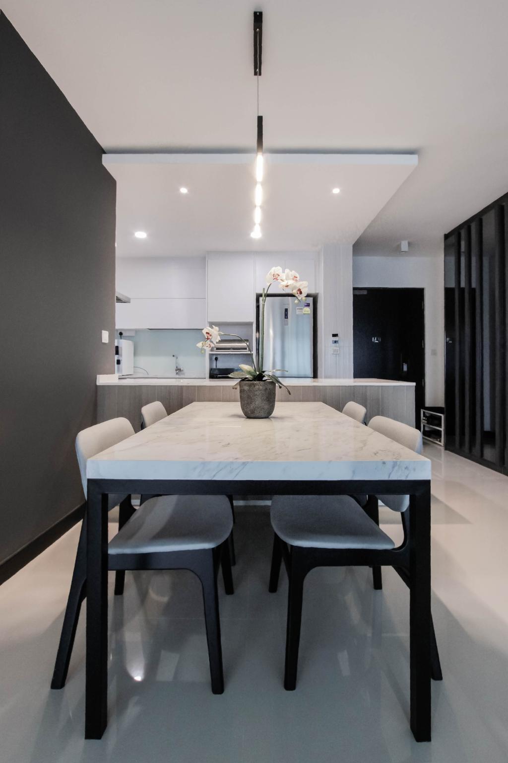 Contemporary, HDB, Dining Room, Bukit Batok West Avenue 6, Interior Designer, Icon Interior Design