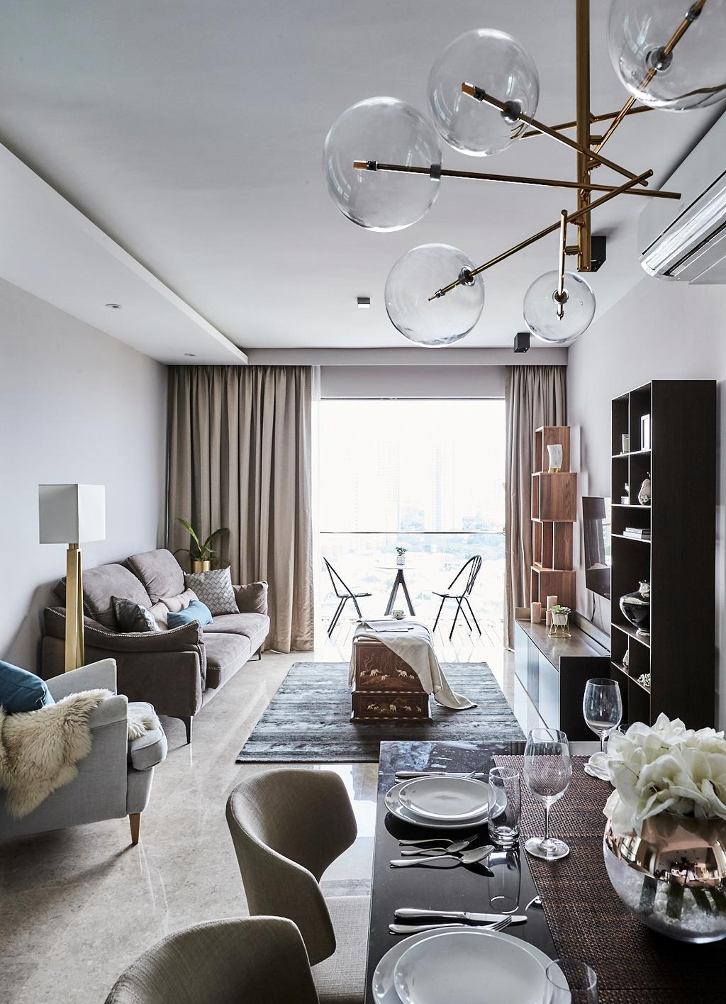 Contemporary, Condo, Living Room, One Amber, Interior Designer, Icon Interior Design
