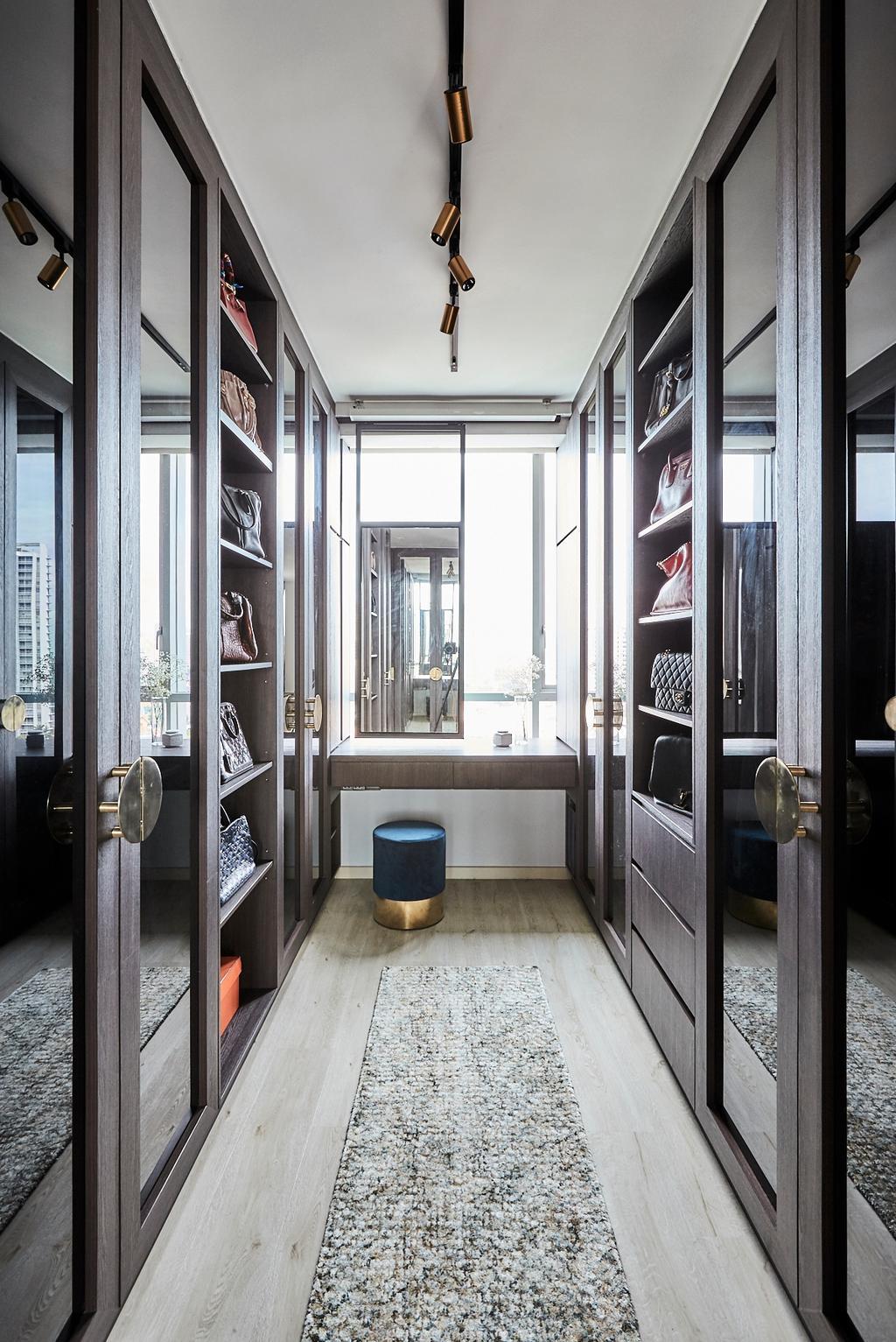 Contemporary, Condo, Bedroom, One Amber, Interior Designer, Icon Interior Design, Walk In Wardrobe, Wardrobe, Dressing Room