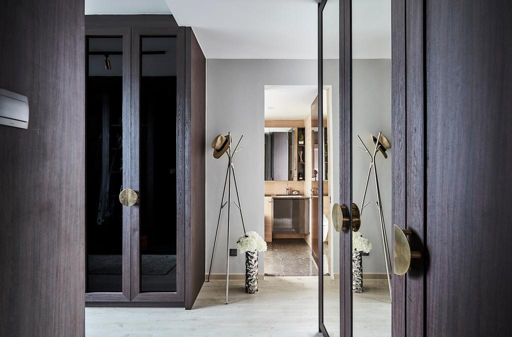 Contemporary, Condo, Bedroom, One Amber, Interior Designer, Icon Interior Design, Dressing Room, Wardrobe, Walk In Wardrobe