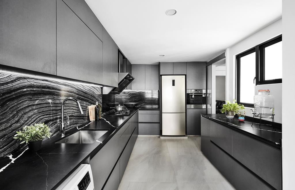 Contemporary, HDB, Kitchen, Hougang Street 22, Interior Designer, Icon Interior Design