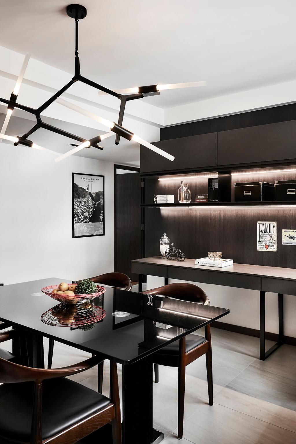 Contemporary, HDB, Dining Room, Hougang Street 22, Interior Designer, Icon Interior Design