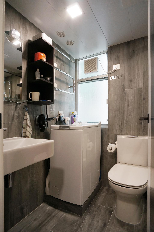 簡約, 公屋/居屋, 浴室, 叠翠軒, 室內設計師, 和生設計, 北歐