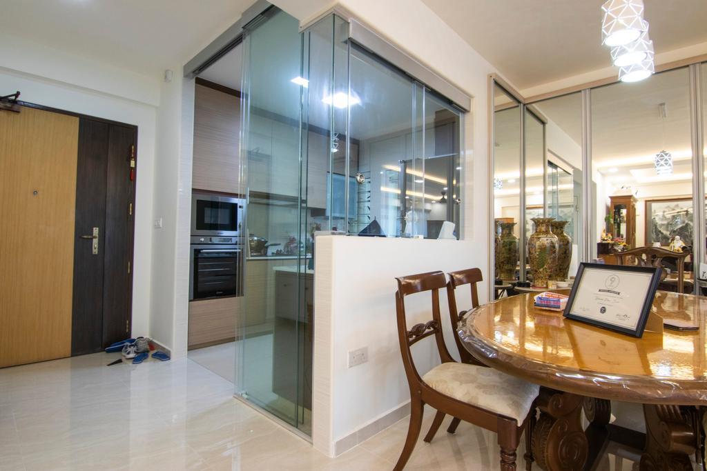 Contemporary, HDB, Dining Room, Punggol Drive, Interior Designer, 9 Creation, Traditional