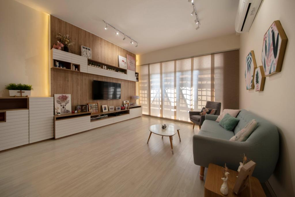 Contemporary, Condo, Living Room, Dover Parkview, Interior Designer, Space Atelier, Scandinavian