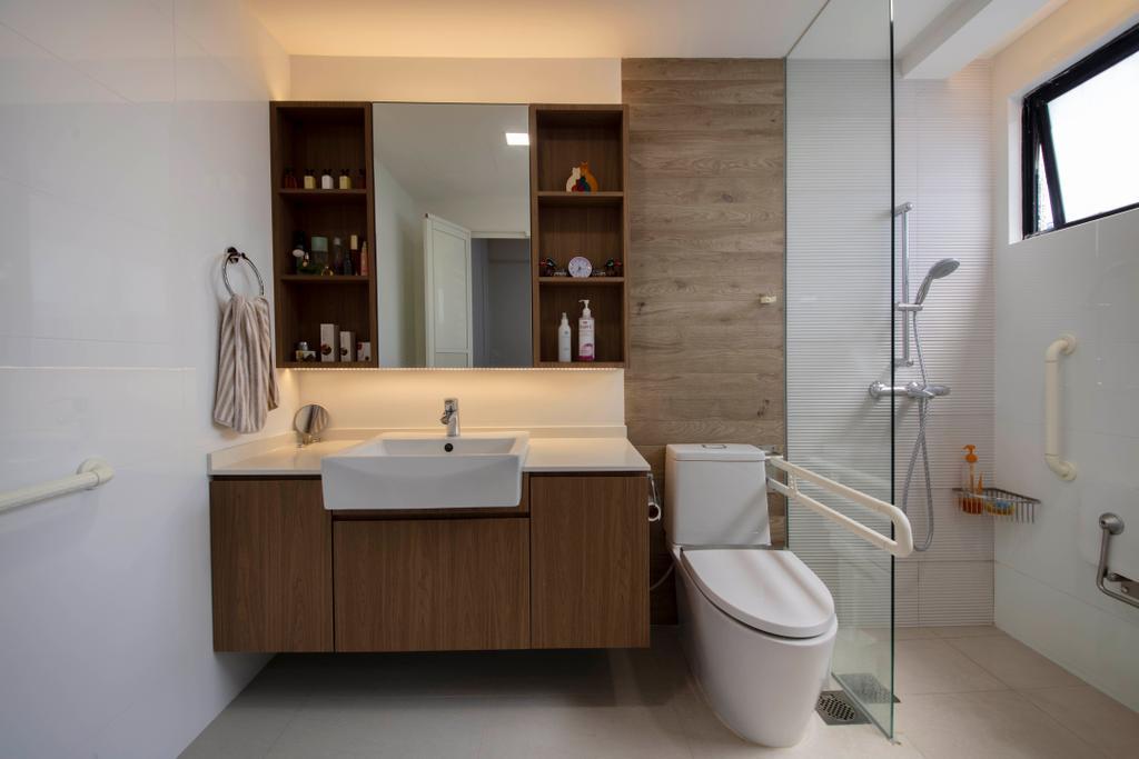 Contemporary, Condo, Bathroom, Dover Parkview, Interior Designer, Space Atelier, Scandinavian