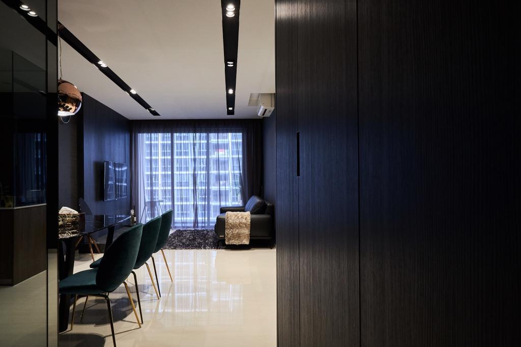 Contemporary, Condo, Living Room, Sol Acres, Interior Designer, Rockin Spaces