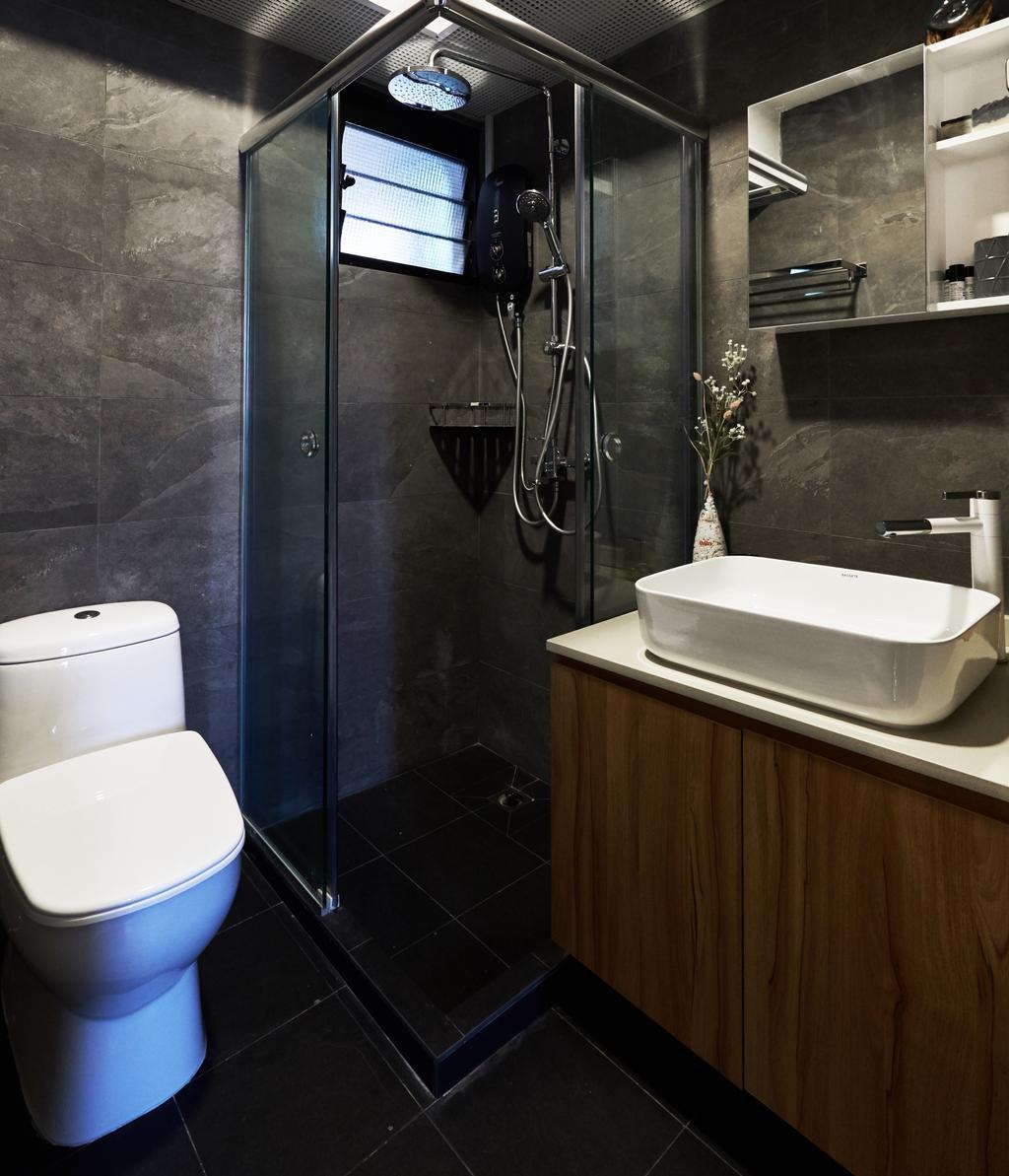 Contemporary, HDB, Bathroom, Havelock Road, Interior Designer, Rockin Spaces