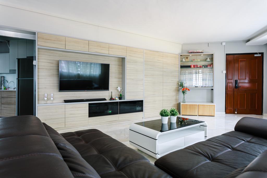 Contemporary, HDB, Living Room, Hougang Street 31, Interior Designer, Hygge Design