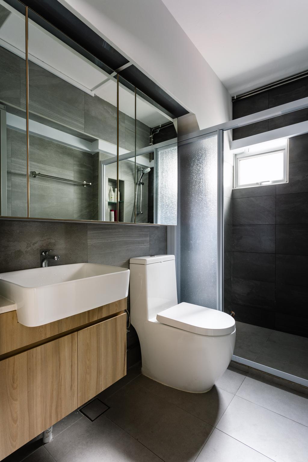 Contemporary, HDB, Bathroom, Hougang Street 31, Interior Designer, Hygge Design