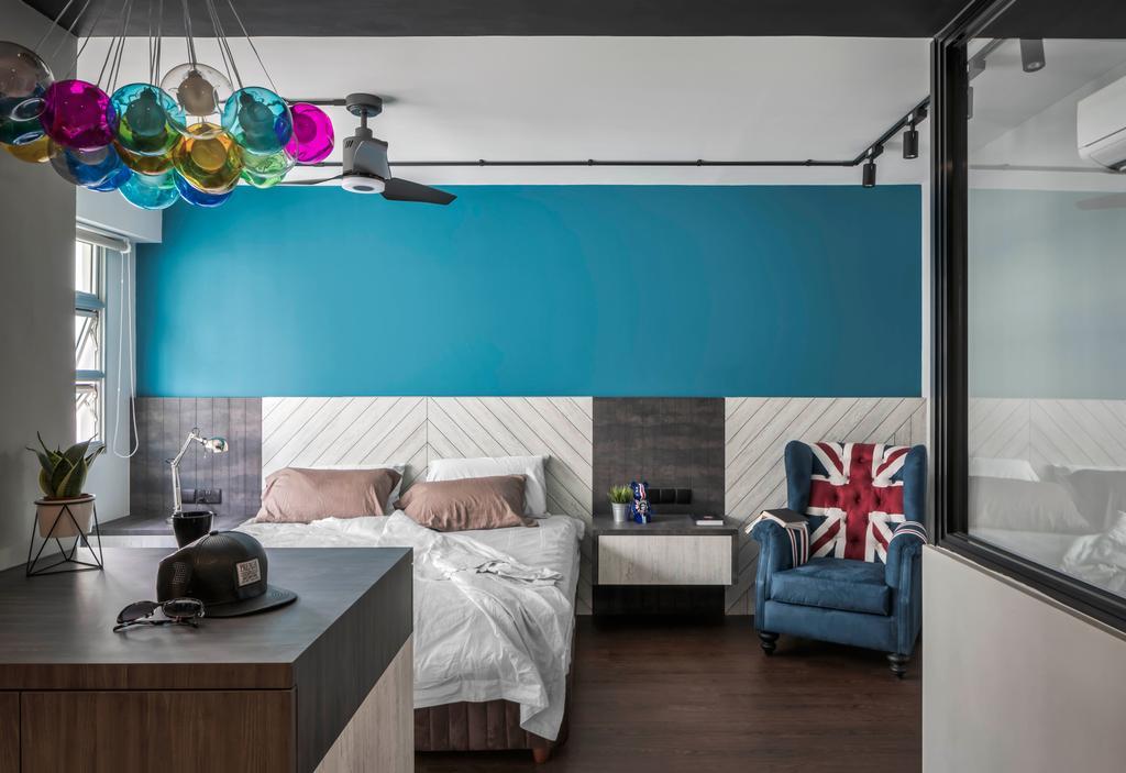 Industrial, HDB, Bedroom, Sumang Lane, Interior Designer, Ethereall