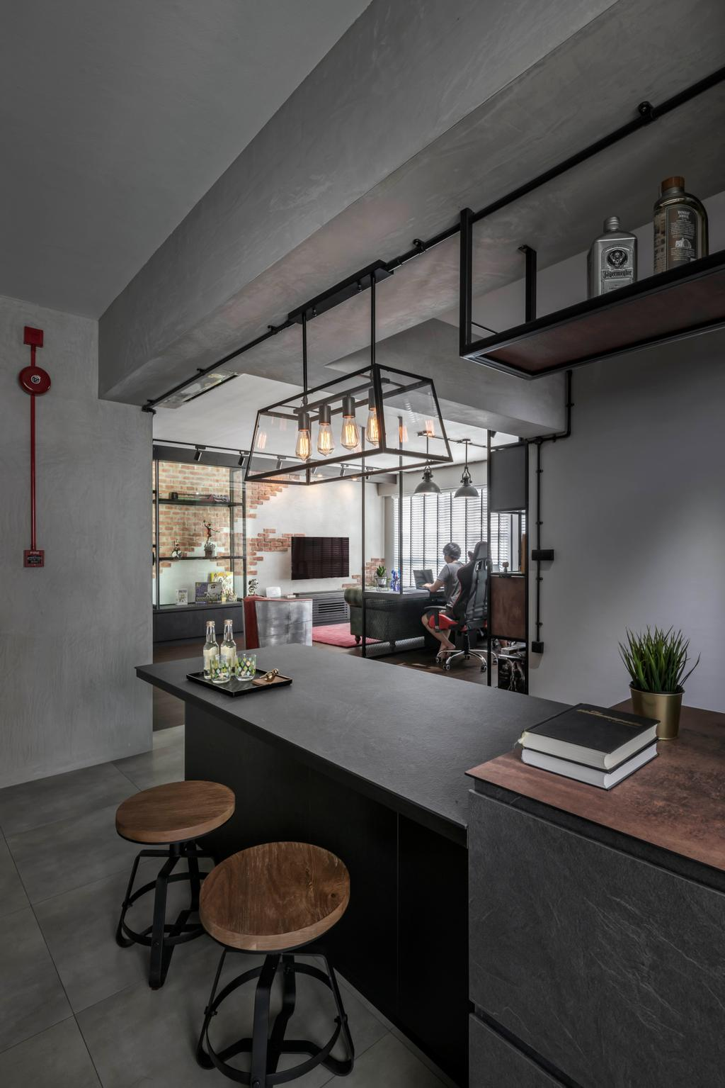 Industrial, HDB, Dining Room, Sumang Lane, Interior Designer, Ethereall