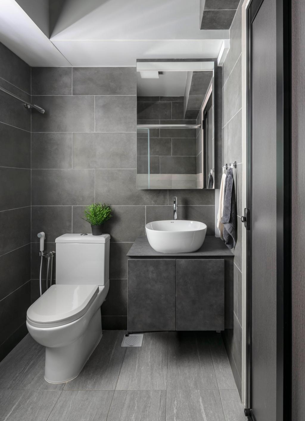 Contemporary, HDB, Bathroom, Corporation Drive, Interior Designer, Ethereall