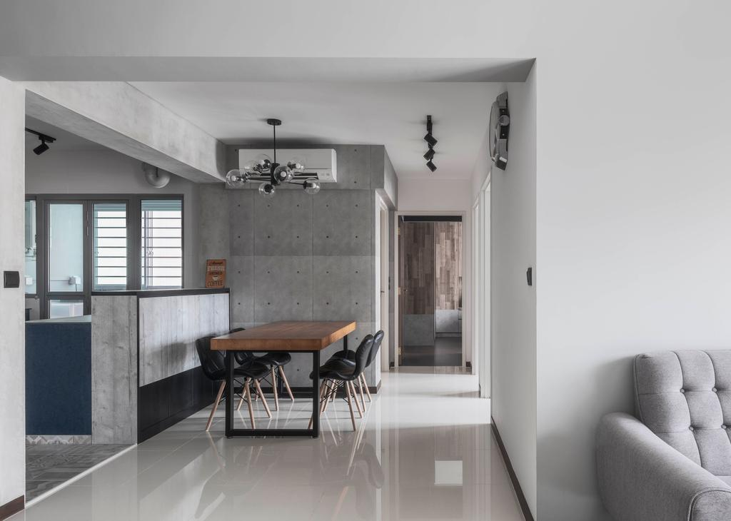 Industrial, HDB, Dining Room, Edgedale Plains, Interior Designer, Ethereall