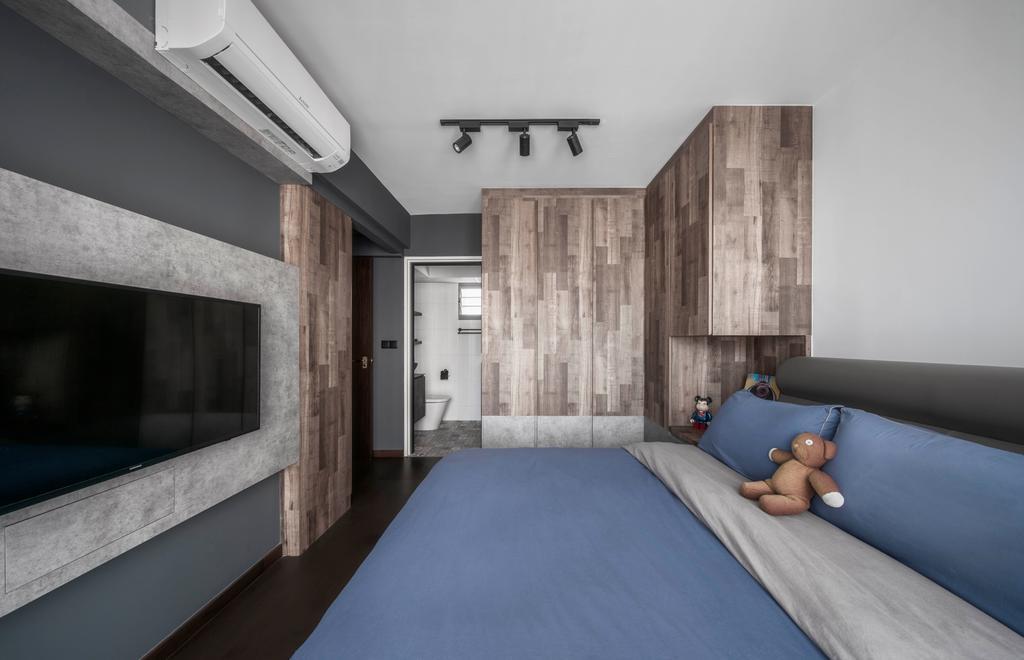 Industrial, HDB, Bedroom, Edgedale Plains, Interior Designer, Ethereall