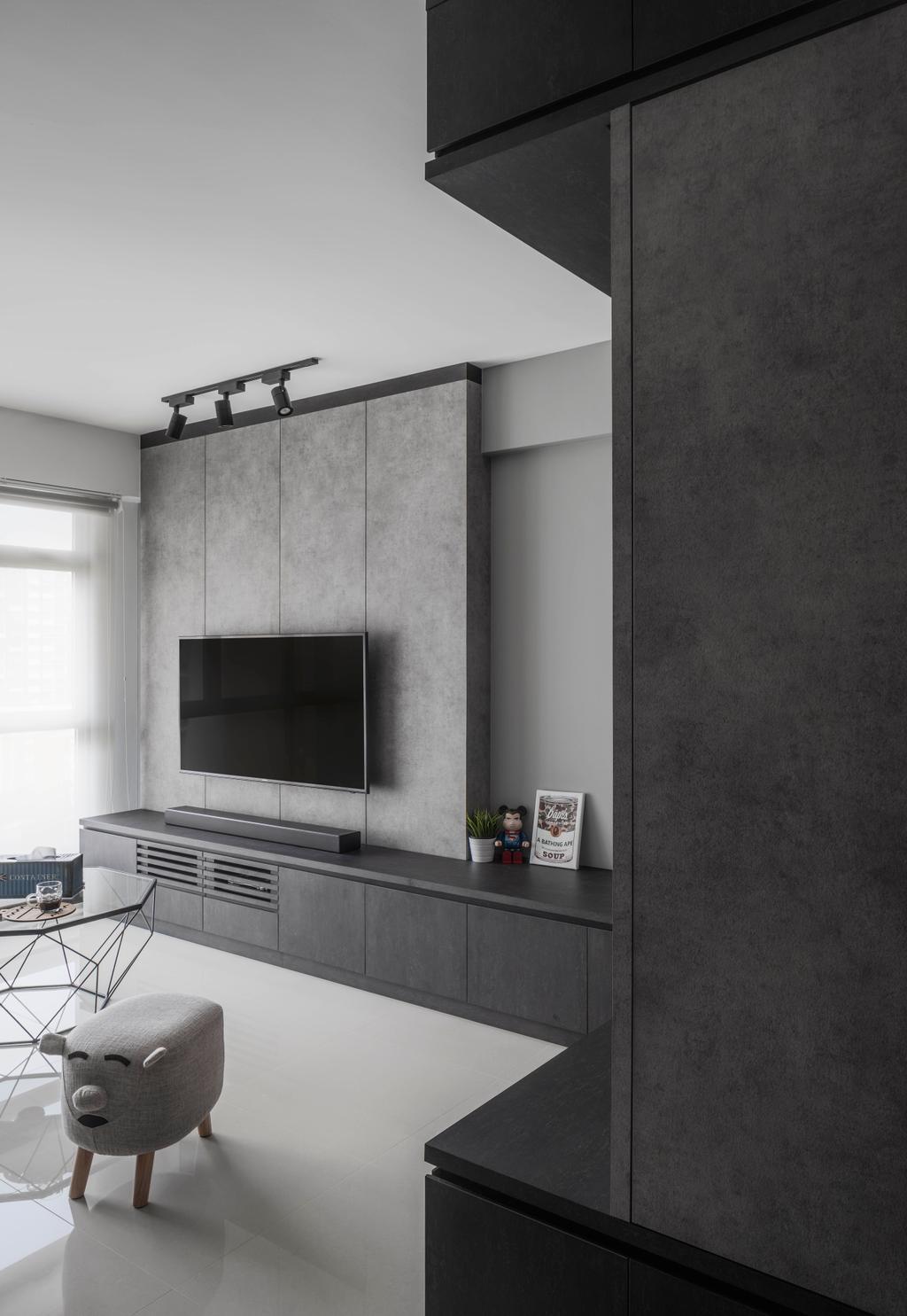 Industrial, HDB, Living Room, Edgedale Plains, Interior Designer, Ethereall