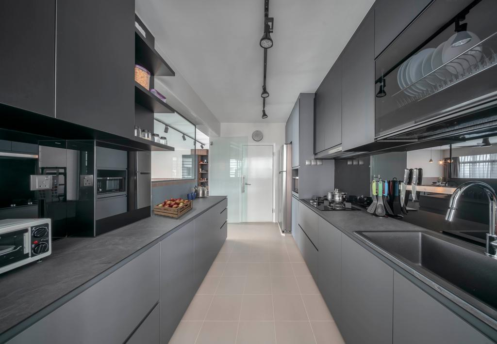 Contemporary, HDB, Kitchen, Bukit Batok East Avenue 6, Interior Designer, Ethereall
