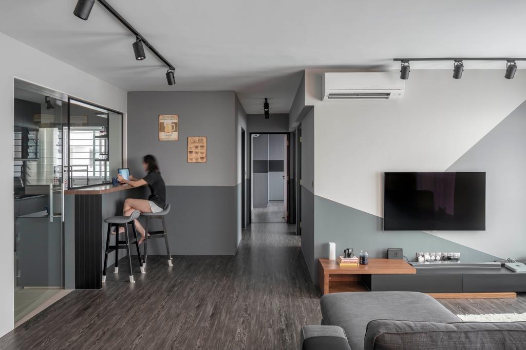 Contemporary, HDB, Living Room, Bukit Batok East Avenue 6, Interior Designer, Ethereall