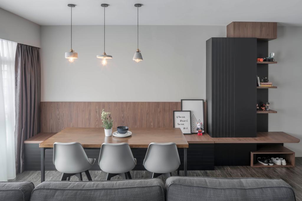 Contemporary, HDB, Dining Room, Bukit Batok East Avenue 6, Interior Designer, Ethereall