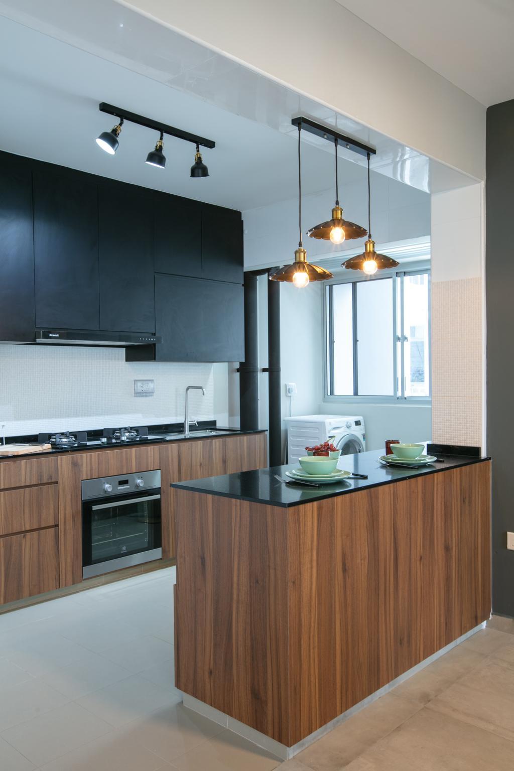Industrial, HDB, Dining Room, Sembawang Crescent, Interior Designer, Starry Homestead