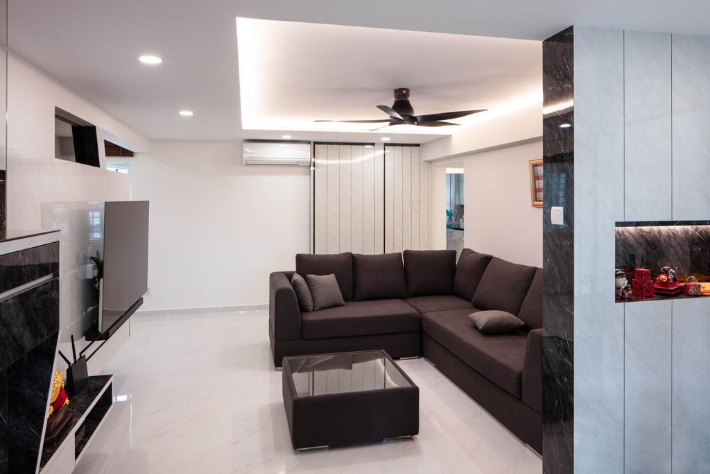 Contemporary, HDB, Living Room, Bukit Purmei Road, Interior Designer, Starry Homestead