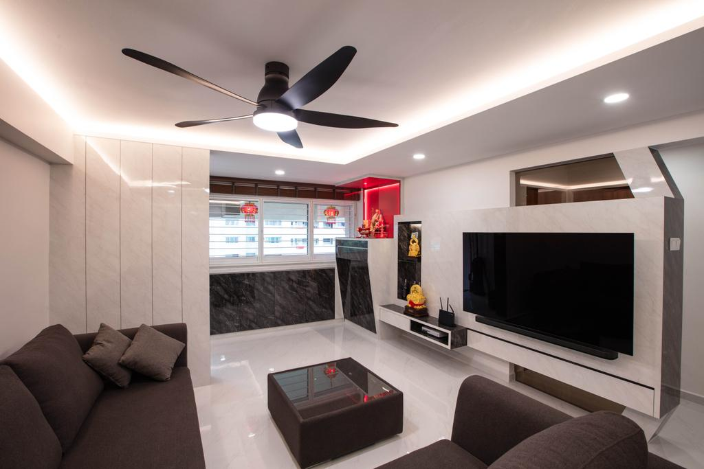 Contemporary, HDB, Living Room, Bukit Purmei Road, Interior Designer, Starry Homestead
