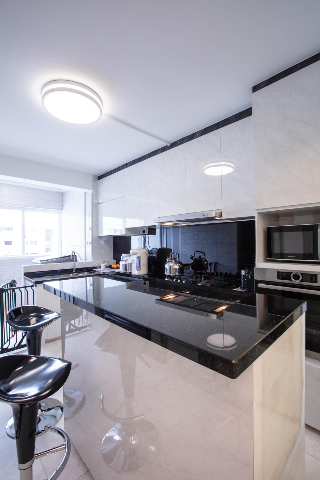 Contemporary, HDB, Kitchen, Bukit Purmei Road, Interior Designer, Starry Homestead