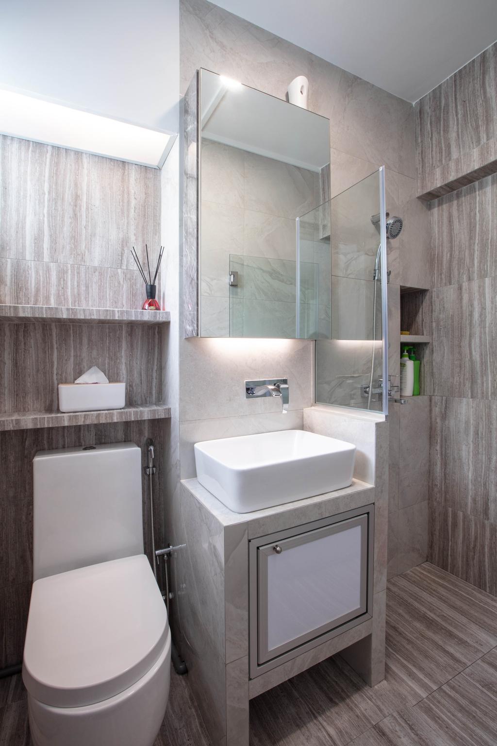Contemporary, HDB, Bathroom, Bukit Purmei Road, Interior Designer, Starry Homestead