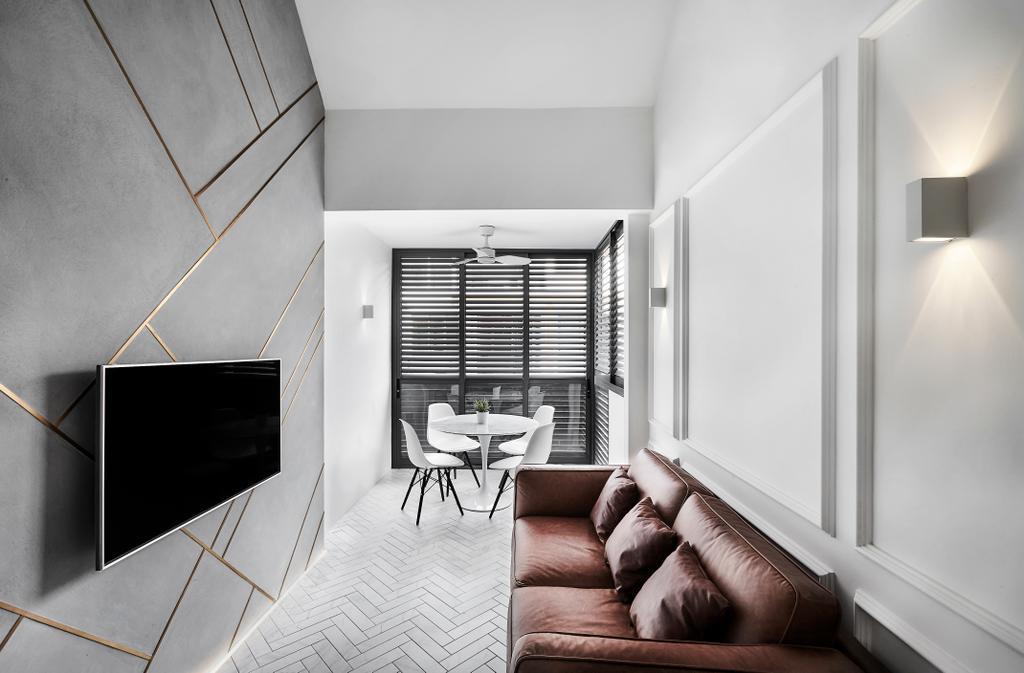 Minimalistic, Condo, Living Room, Floraview, Interior Designer, Third Avenue Studio, Contemporary