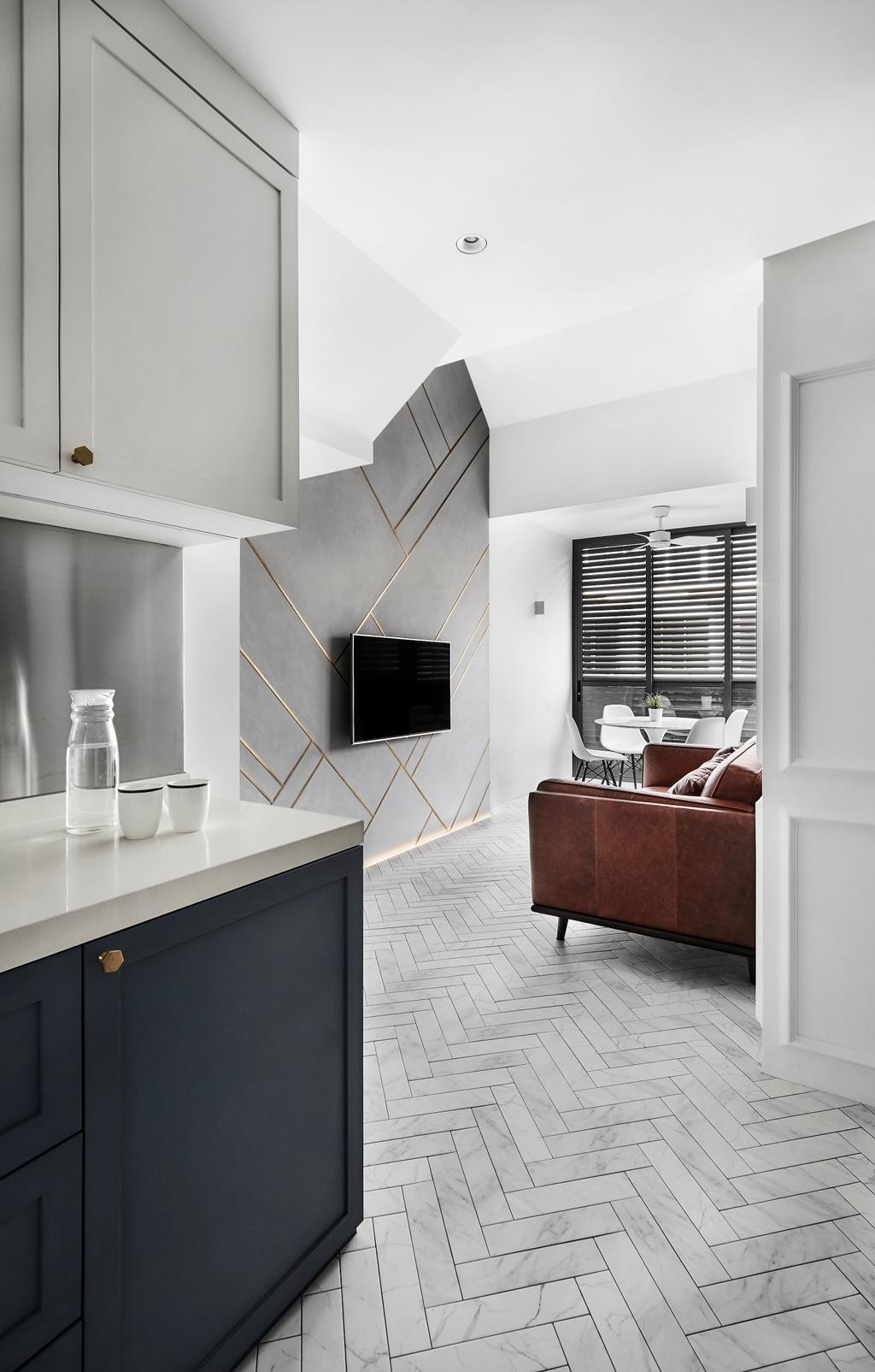 Minimalistic, Condo, Kitchen, Floraview, Interior Designer, Third Avenue Studio, Contemporary