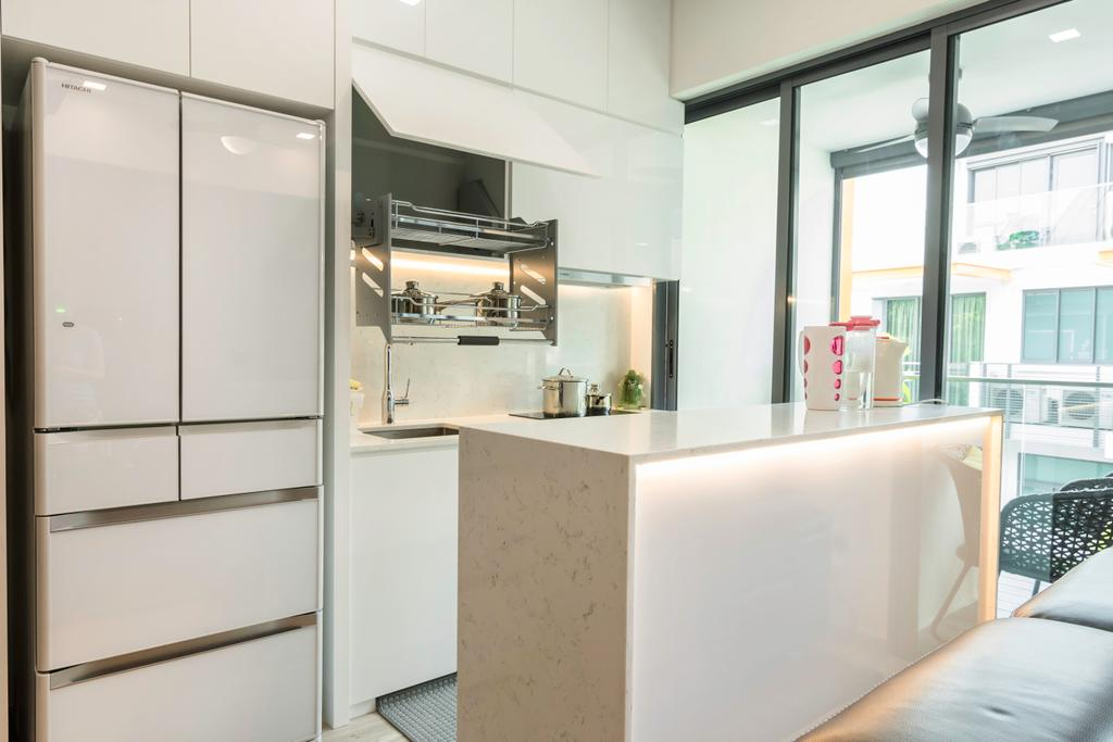 Contemporary, Condo, Kitchen, Floraview, Interior Designer, Design Story