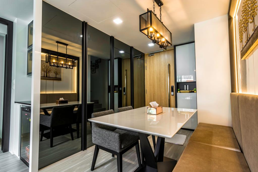 Contemporary, Condo, Dining Room, Floraview, Interior Designer, Design Story
