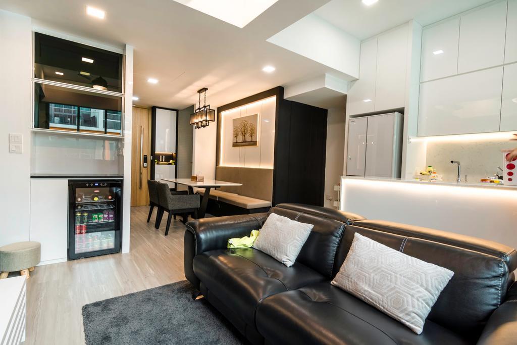 Contemporary, Condo, Living Room, Floraview, Interior Designer, Design Story
