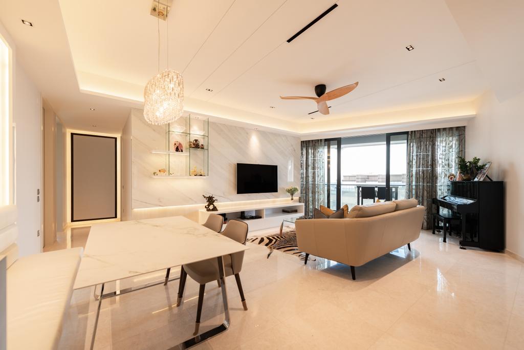 Contemporary, Condo, Living Room, Duo Residences, Interior Designer, The Orange Cube